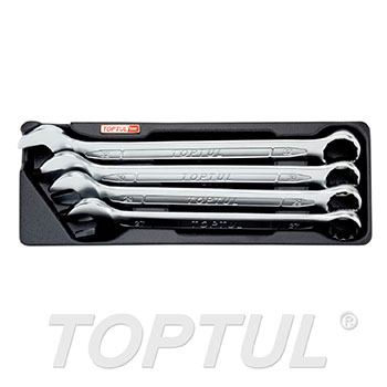 4PCS - 15° Offset Standard Combination Wrench Set