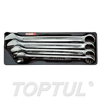 4PCS - 15° Offset Super-Torque Combination Wrench Set