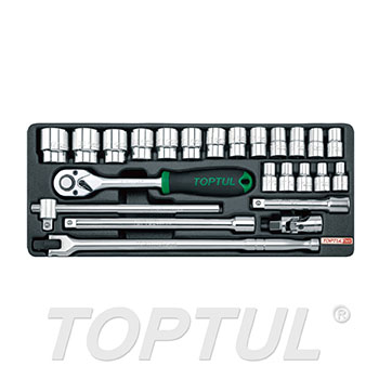 "24PCS - 1/2"" DR. Flank Socket Set"