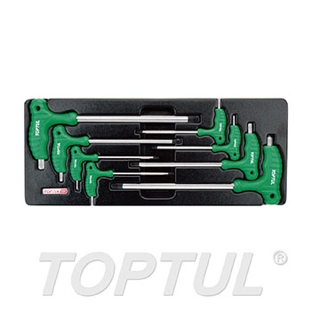 8PCS - L-Type Two Way Star & Tamperproof Key Wrench Set