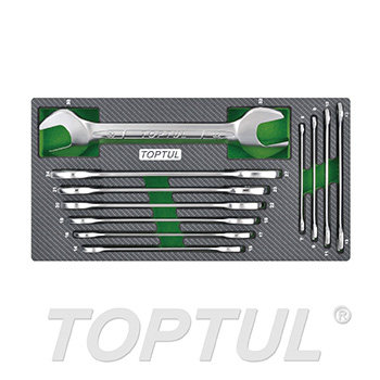 11PCS - Double Open End Wrench Set