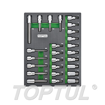 "25PCS - 1/2"" DR. Bit Socket Set"
