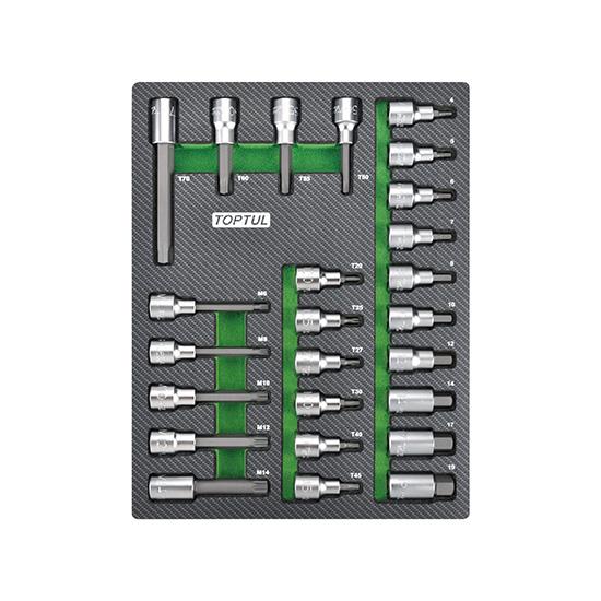 "25PCS - 1/2"" DR. Bit Socket Set"