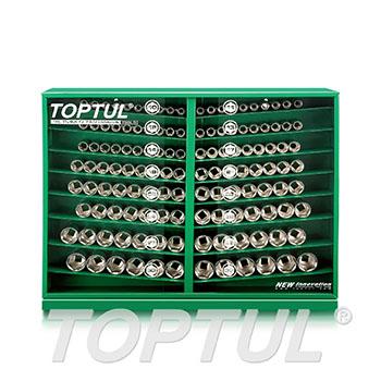 """130PCS 1/2"""" DR. Socket Display Set"""