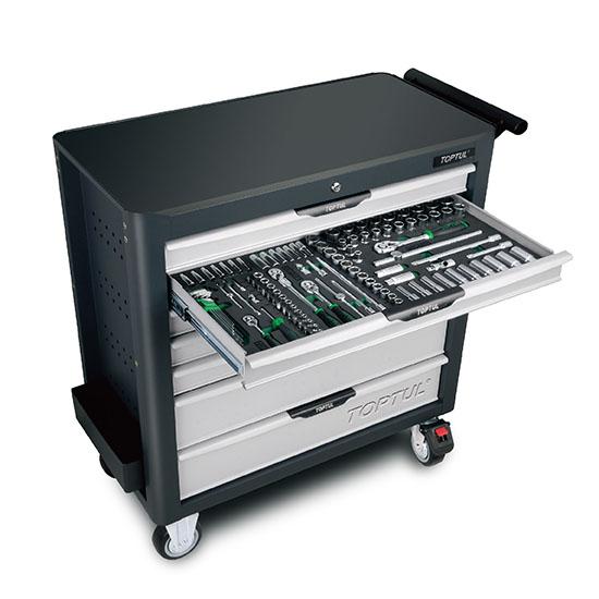 W/7-Drawer Tool Trolley - 338PCS Mechanical Tool Set