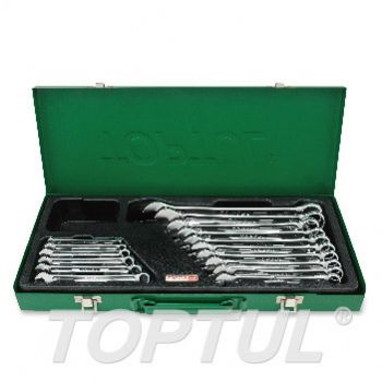 15° Offset Hi-Performance Combination Wrench Set - METRIC