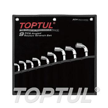 Angled Socket Wrench Set - POUCH BAG - BLACK