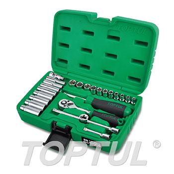 """25PCS Professional Grade 1/4"""" DR. Flank Socket Set"""