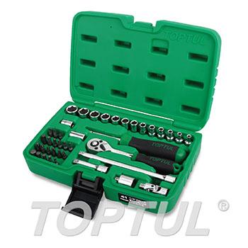 """41PCS Professional Grade 1/4"""" DR. Flank Socket Set"""
