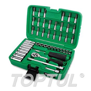 """46PCS Professional Grade 1/4"""" DR. Flank Socket Set"""