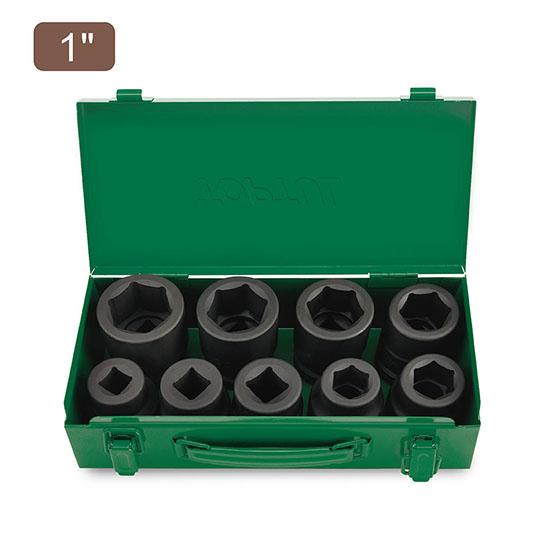 "9PCS 1"" DR. Flank Impact Socket Set"