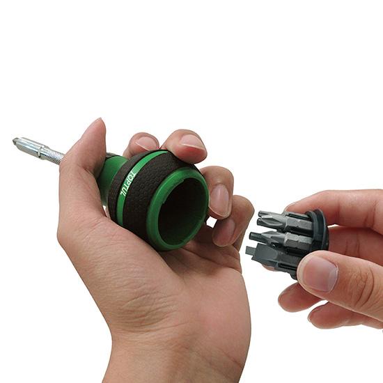 9-In-1 High Torque Stubby Ratchet Screwdriver Set