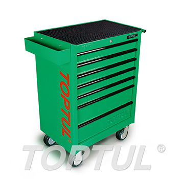 7-Drawer Mobile Tool Trolley GENERAL SERIES - GREEN
