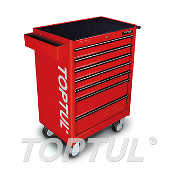 7-Drawer Mobile Tool Trolley - GENERAL SERIES - RED