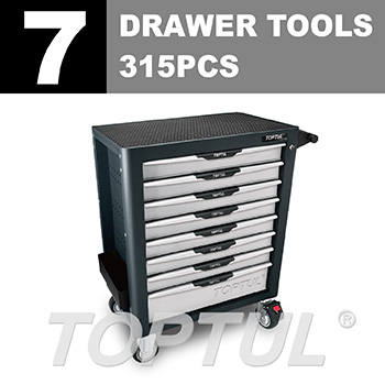W/8-Drawer Tool Trolley - 315PCS Mechanical Tool Set