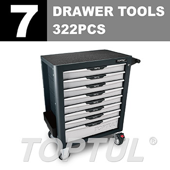 W/8-Drawer Tool Trolley - 322PCS Mechanical Tool Set