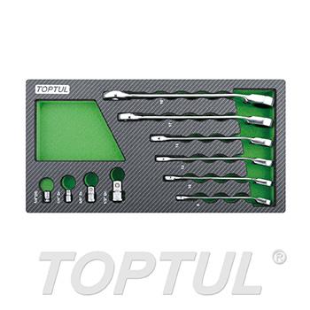 10PCS - Pro-Series Reversible Ratchet Combination Wrench Set