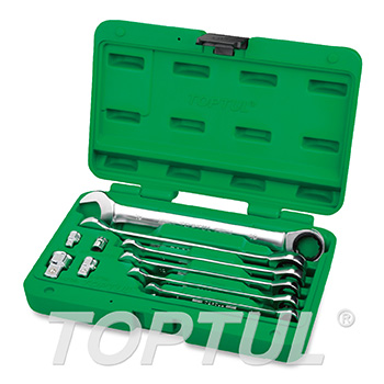 10PCS Pro-Series Ratchet Combination Wrench Set