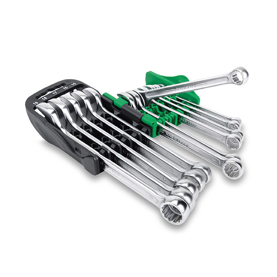 15° Offset Super-Torque Combination Wrench Set - STORAGE RACK