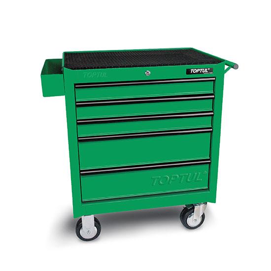 5-Drawer Mobile Tool Trolley - GENERAL SERIES - GREEN