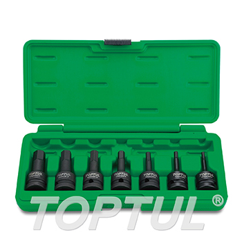 "7PCS 1/2"" DR. Hex Bit Impact Socket Set"