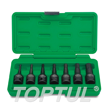 "7PCS 3/8"" DR. Hex Bit Impact Socket Set"