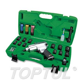 "27PCS 1/2"" DR. Air Impact Wrench Set (Standard Anvil / Max. Torque 700 Ft-Lb)"