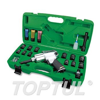 "27PCS 1/2"" DR. Air Impact Wrench Set (Long Anvil / Max. Torque 600 Ft-Lb)"