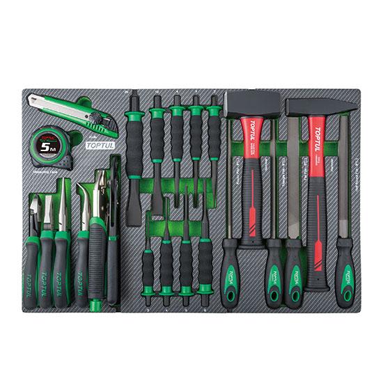 23PCS Hammer, Punch, Chisel & Plier Set