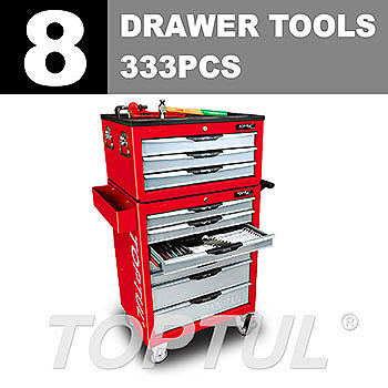 W/3-Drawer Tool Chest + W/7-Drawer Tool Trolley