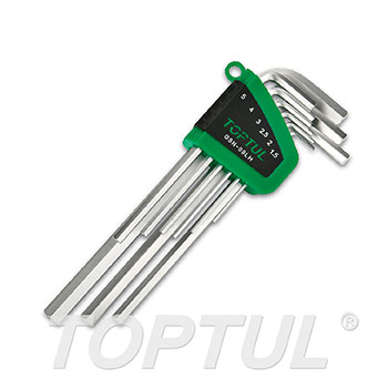 9PCS Long Type Hex Key Wrench Set