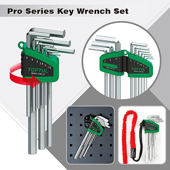 9PCS Long Type Ball Point Hex Key Wrench Set