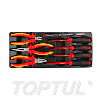 8PCS - VDE Insulated Pliers & Screwdrivers Set