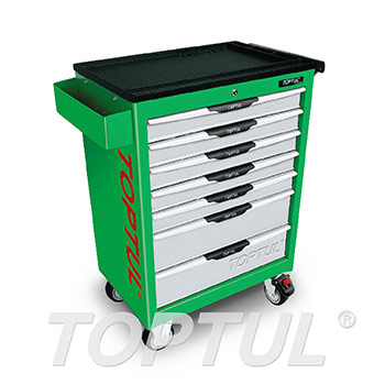 7-Drawer Mobile Tool Trolley - PRO-LINE SERIES - GREEN