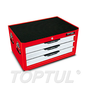 3-Drawer Middle Tool Chest - PRO-LINE SERIES - RED