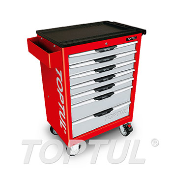7-Drawer Mobile Tool Trolley - PRO-LINE SERIES - RED